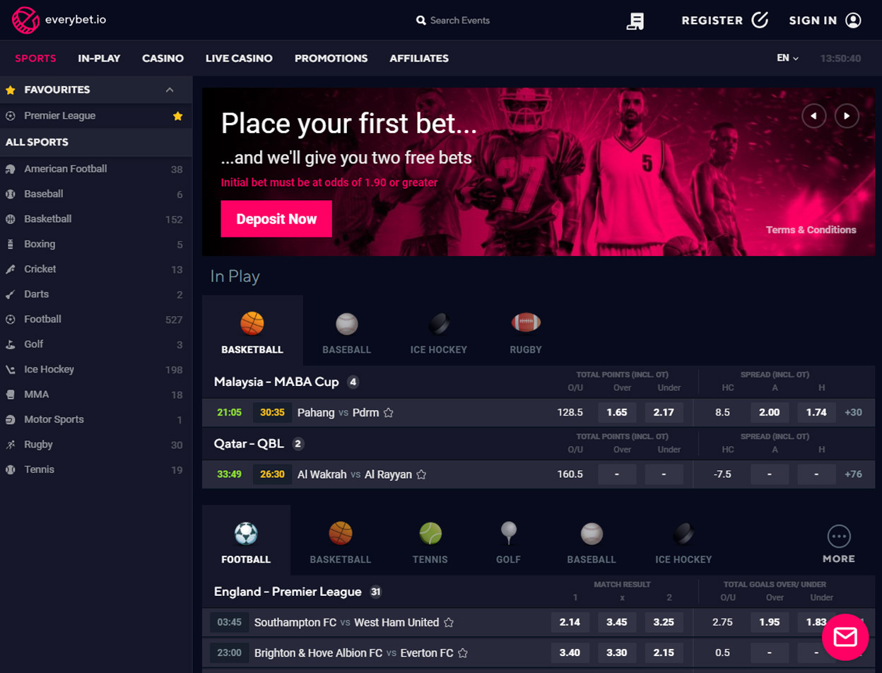 Everybet.io Screenshot 1