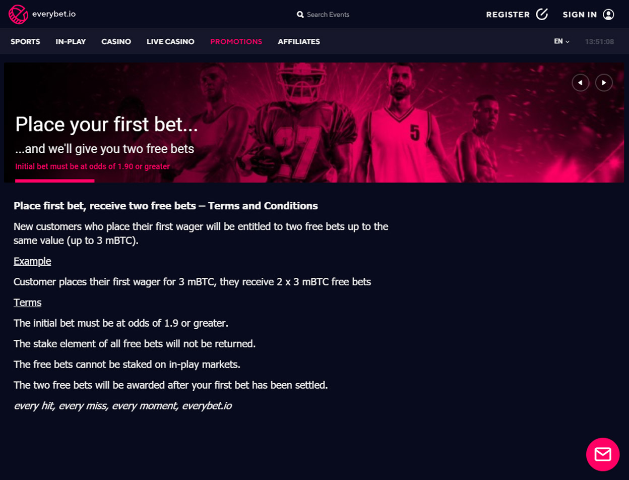 Everybet.io Screenshot 2
