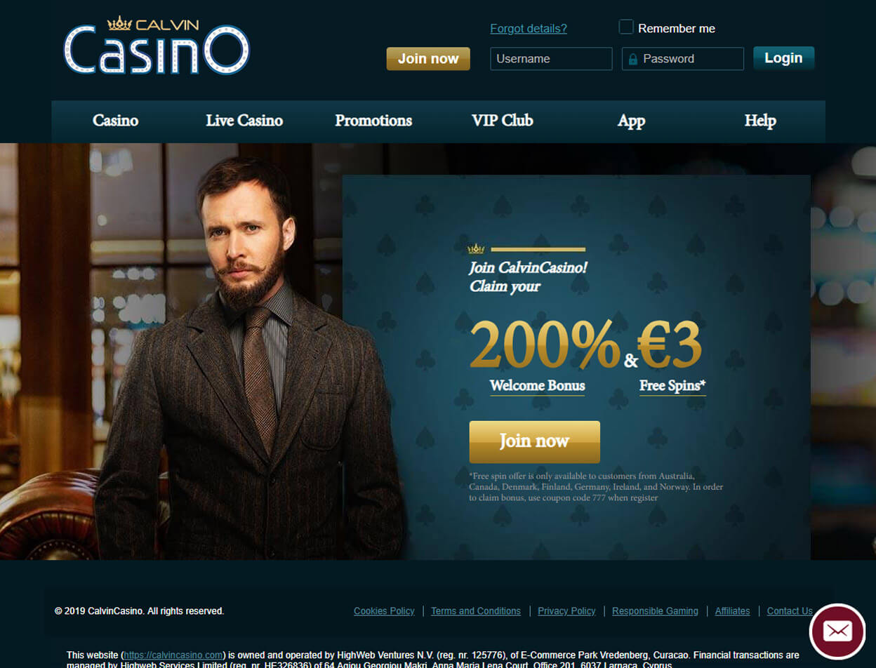 CalvinCasino Screenshot 1