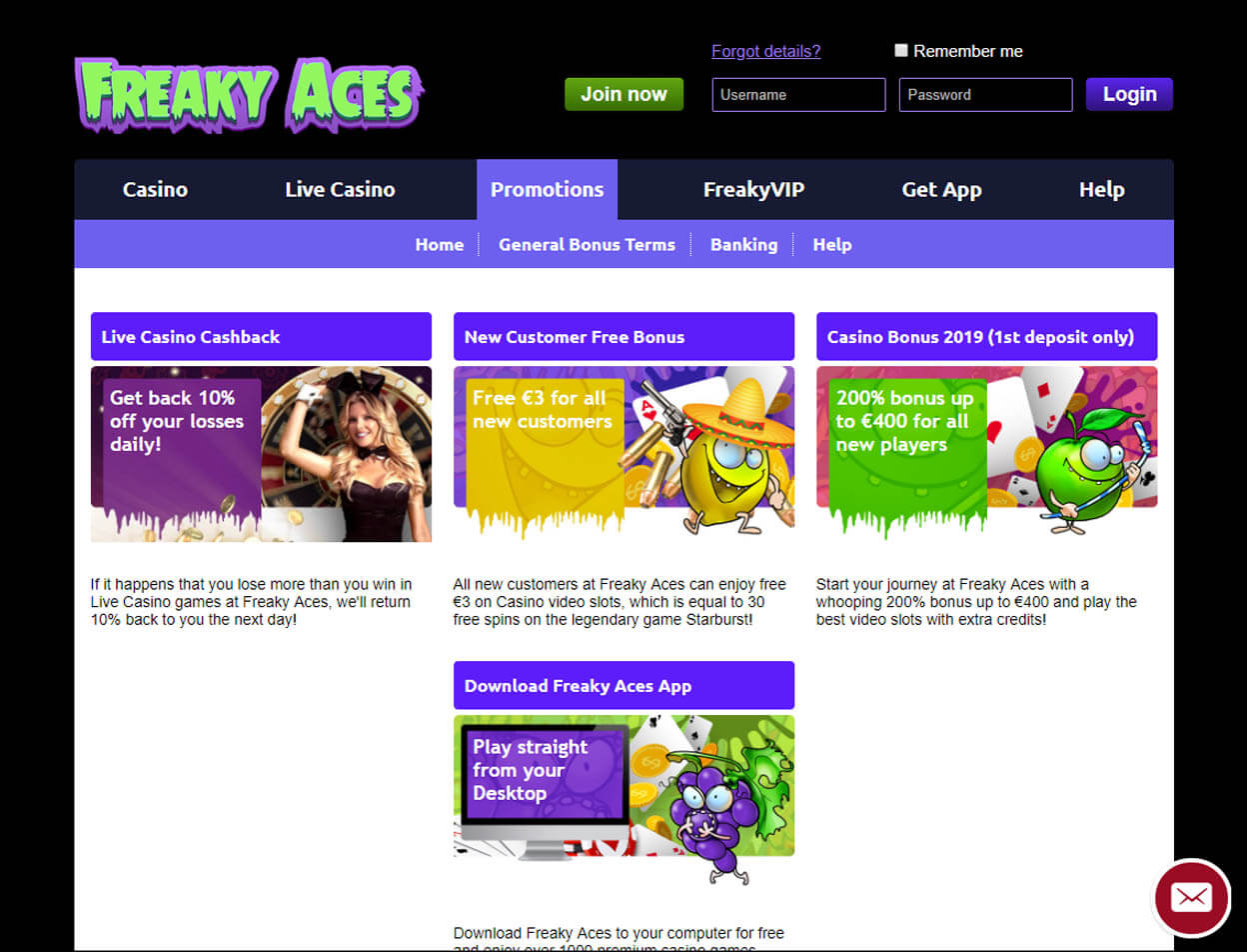 Freaky Aces Casino Screenshot 2