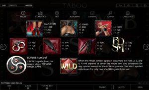Taboo Slot Screenshot 2