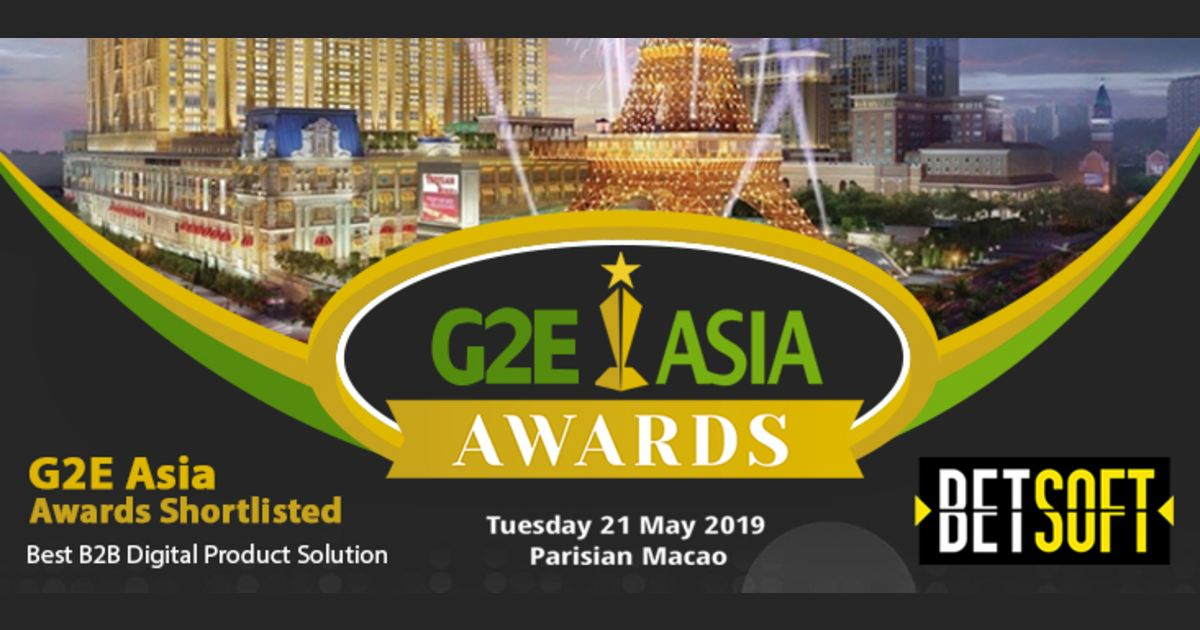 Betsoft nominated at g2e asia awards