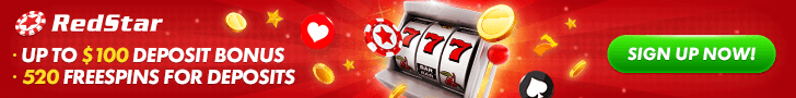 RedStar Up to $100 Deposit Bonus and 520 Free Spins for Deposits